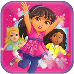 Dora & Friends Sqaure Plates (9 in)