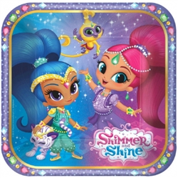 SHIMMER AND SHINE 7 IN PLATES