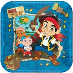 Jake and the Never Land Pirates 9 inch Square Dinner Plates
