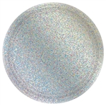 "Round Prismatic Plates, 9"" - Silver"