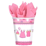 Shower with Love Girl 9oz Cups