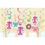 Sweet Birthday Girl Value Pack Foil Swirl Decorations