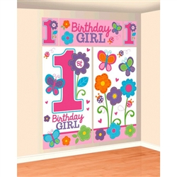 Sweet Birthday Girl Scene Setters Wall Decorating Kit