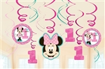 Minnie's Fun to Be One Swirls Decorations