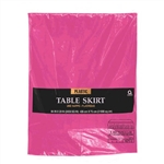 BRIGHT PINK TABLE SKIRT