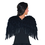 Black Feather Wings 22 inches