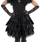 Gothic Ruffled Skirt Adult