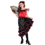 Spanish Dancer Lrg(12-14) Girls Costume