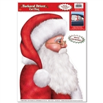 Santa Claus Backseat Driver Car Window Cling