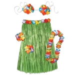 HULA ADULT COMPLETE OUTFIT - 5PC