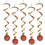 Basket Ball Party Swirls Decoration