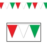 Pennant Banner - Red/White/Green