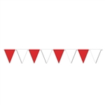 Red And White 30' Pennant Banner