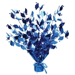 Graduation Cap Blue Gleam N Burst Centerpiece