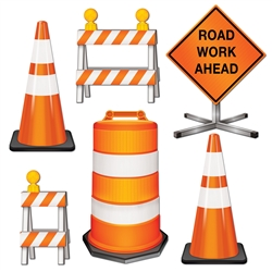 Road Crew Construction Cutouts