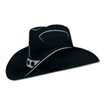 Cowboy Hat Black Foil Cutout
