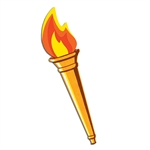 OLYMPIC TORCH CUTOUT