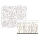 "FRINGED TISSUE WHITE MAT 15"" X 30"""