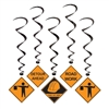Construction Signs Whirls Decorations