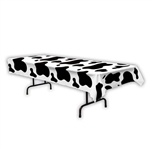 Cow Print Plastic Table Cover