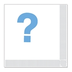 Blue Question Mark Napkins