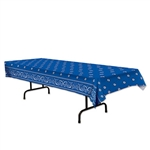 Blue Bandana Printed Table Cover