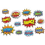 SuperHero Action Sign Cutouts