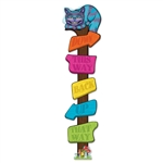 ALICE WONDERLAND DIRECTIONAL POST CUTOUT