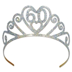 "Glittered Metal ""60"" Tiara"