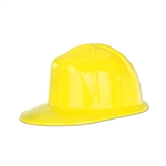 Yellow Plastic Construction Helmet - PLASTIC