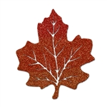 Maple Leaves 5 Inch Glittered Cutouts