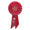 IM 6 YEARS OLD TODAY RED ROSETTE AWARD RIBBON