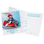 Mario Kart Wii Party Invitations