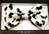White Bowtie with Black Moustaches