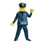 Lego Police Officer Deluxe Kids Costume - Medium