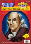 Benjamin Franklin Wig And Glasses Set