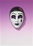 Pierrot Black and White Mask