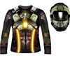 Fortnite Inspired Space Traveller Costume Shirt and Hood- Adult Large