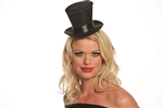 Black Mini Burlesque Hat