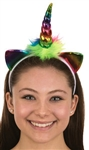 Unicorn Metallic Rainbow Headband