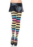 Neon Rainbow Acrylic Tights