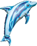 Jewel Blue Dolphin Mylar Balloon
