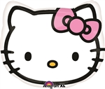 Hello Kitty Head Mylar Balloon