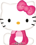 Hello Kitty Shape Side Pose Mylar Balloon