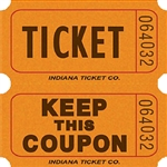 ORANGE DOUBLE KEEP COUPON TICKETS