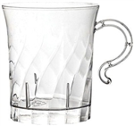 8oz Clear Coffee Elegance Plastic Cups