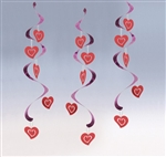 Hearts 24 inch Dizzy Danglers (5 Pack)
