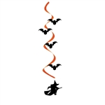 Witch And Bat Dizzy Danglers Halloween Decorations