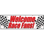 Welcome Race Fans Giant Banner