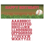 Baseball Sports Fanatic Giant Party Banner